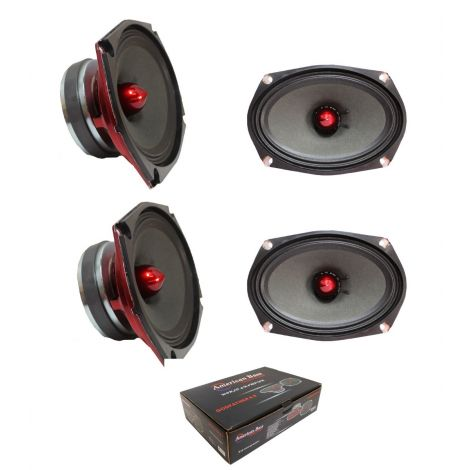"2 American Bass 6x9"" 400 Watt 4 Ohm Midrange Speaker Godfather 6.9"