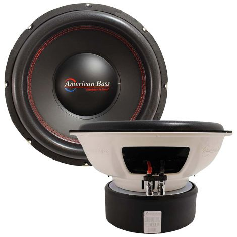 "American Bass 15"" 1600 Watts 3"" Dual 4 Ohm Voice Coil Subwoofer Titan 1244"