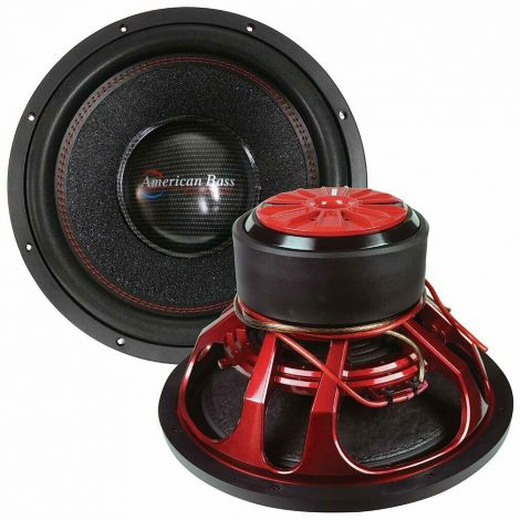 "American Bass HAWK 1544 15"" 3000w Peak/1500w RMS Car Subwoofer w/Cooling Ring"