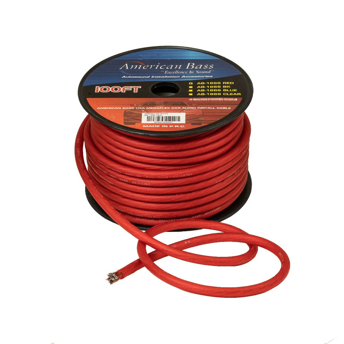 Red 100 Ft 0 Gauge Flexible Wire Power Cord Wire Power Supply for Car Audio